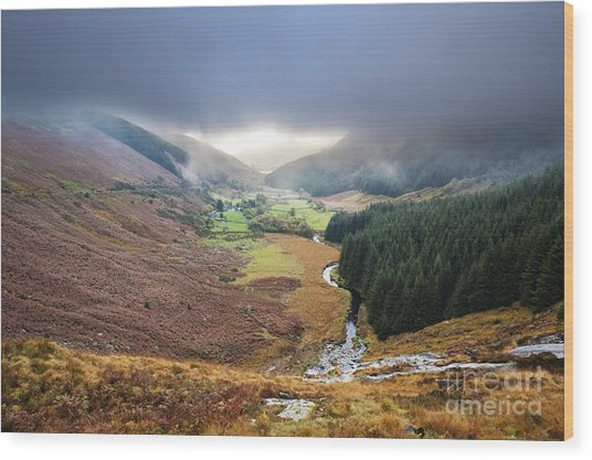 Glenmacnass 1 Wood Print by Michael David Murphy