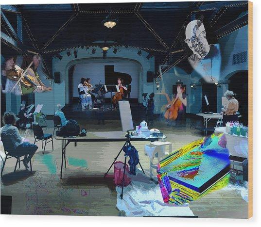 Wood Print featuring the photograph Glisten Rehearsal by David Coblitz