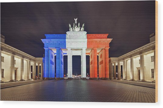 Global Reaction To Paris Terror Attacks Wood Print by Ricowde