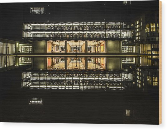 Glorious Modern Architecture At Night Wood Print