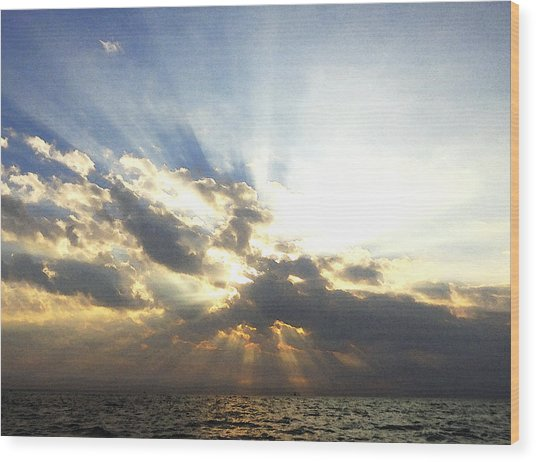 Glorious Rays Of Sunshine Wood Print