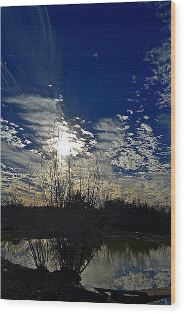 Glorious Reflection Wood Print by Kelly Kitchens