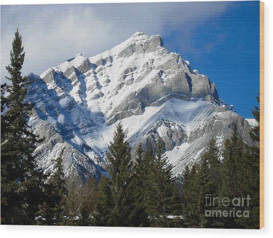 Glorious Rockies Wood Print