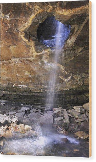 Glory Hole Falls - Arkansas - Waterfall Wood Print