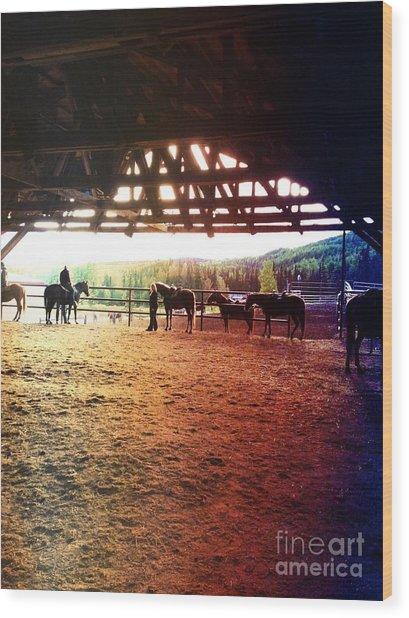 Glory In Horses Wood Print