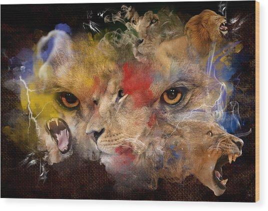 Glory Of The Beast Wood Print