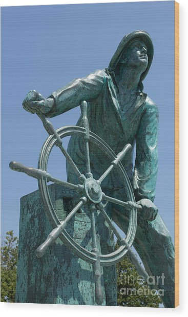 Gloucester Fisherman Wood Print
