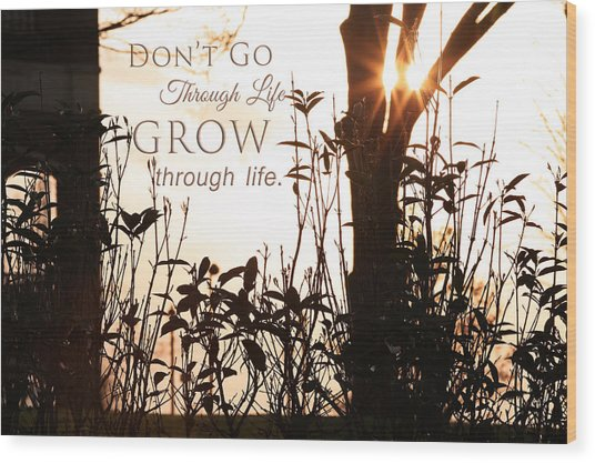 Glowing Landscape With Message Wood Print