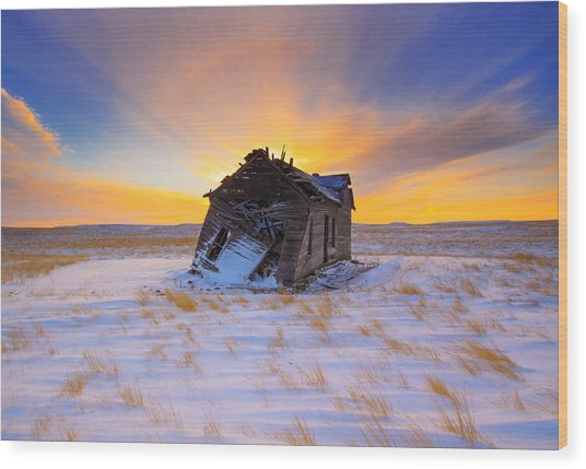 Glowing Winter Wood Print by Kadek Susanto