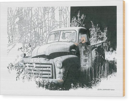 GMC Wood Print by Paul Shafranski