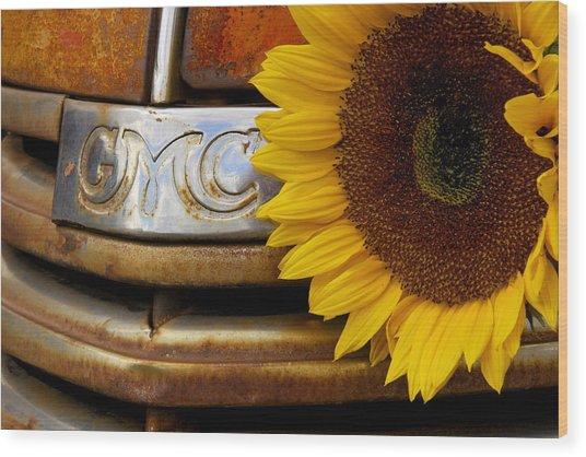 Gmc Sunflower Wood Print