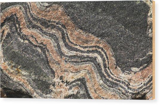 Gneiss Rock  Wood Print