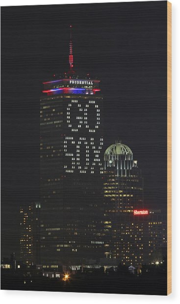 Go Boston Red Sox Wood Print