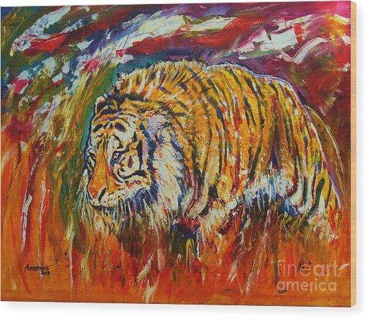 Go Get Them Tiger Wood Print by Anastasis  Anastasi