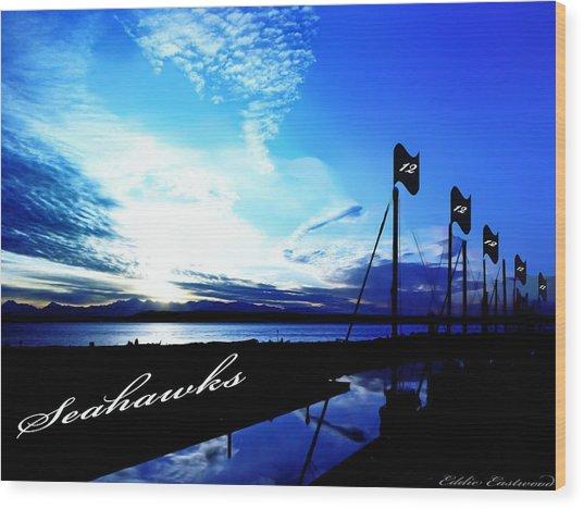 Go Seahawks Wood Print