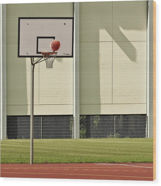 Goal Wood Print by Jutta Kerber