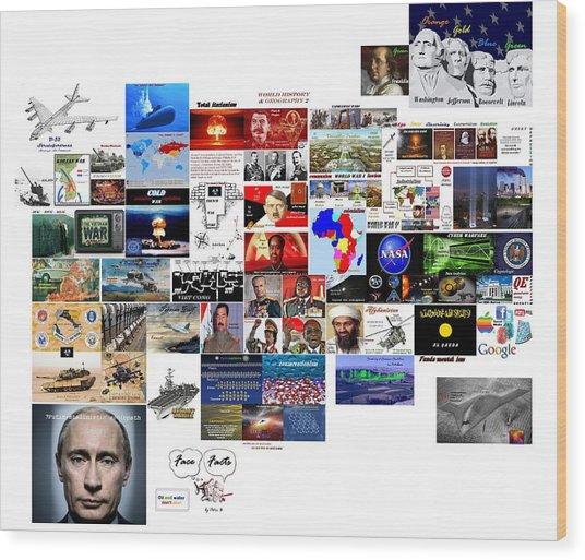 Goal Post Putin Wood Print
