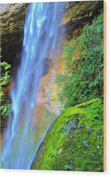 Goat Creek Falls Wood Print