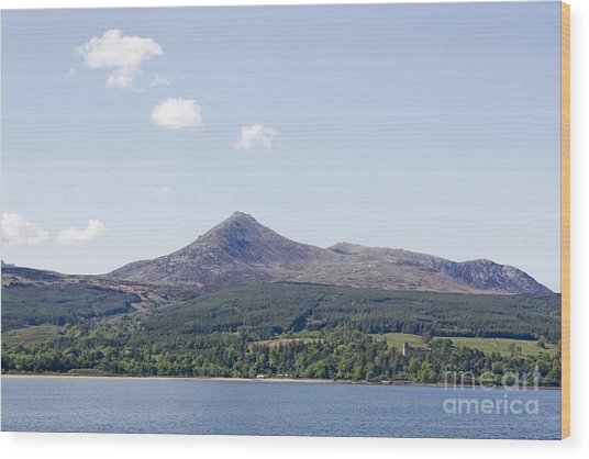 Goat Fell Isle Of Arran Scotland Wood Print