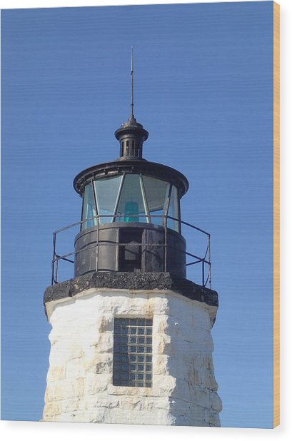 Goat Island Lighthouse Wood Print
