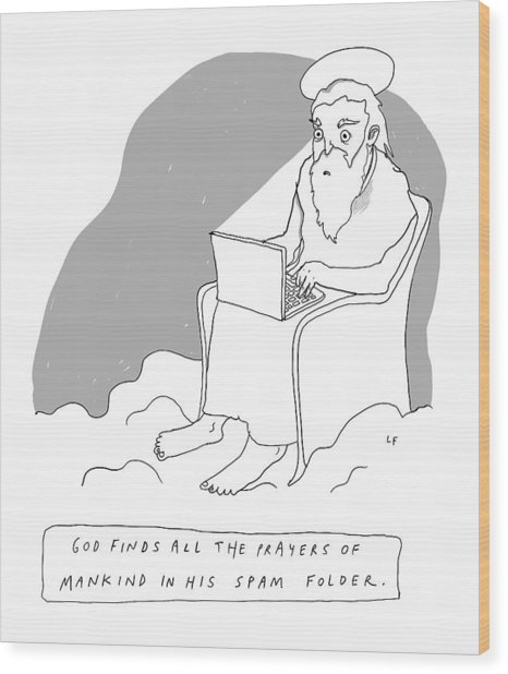 God Sits In A Throne In Heaven Wood Print