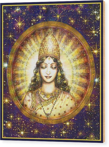 Goddess Of Stars Wood Print by Ananda Vdovic