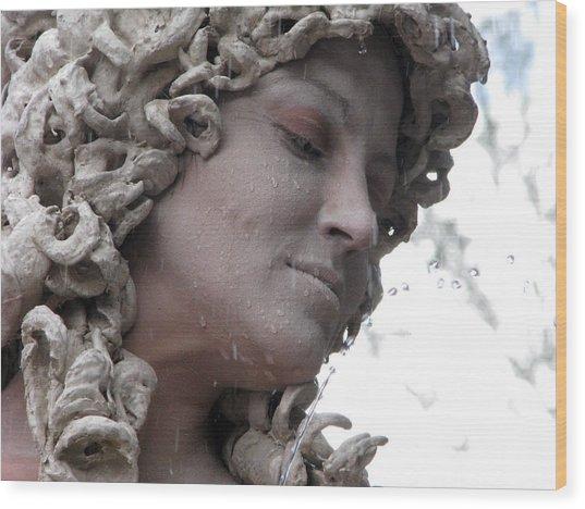 Goddess Of Stone Wood Print