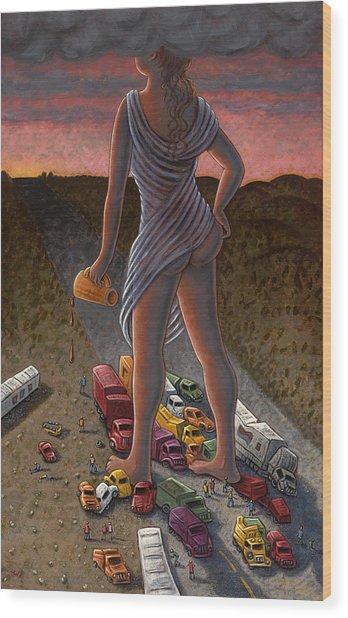 Goddess Of The Dawn Wood Print