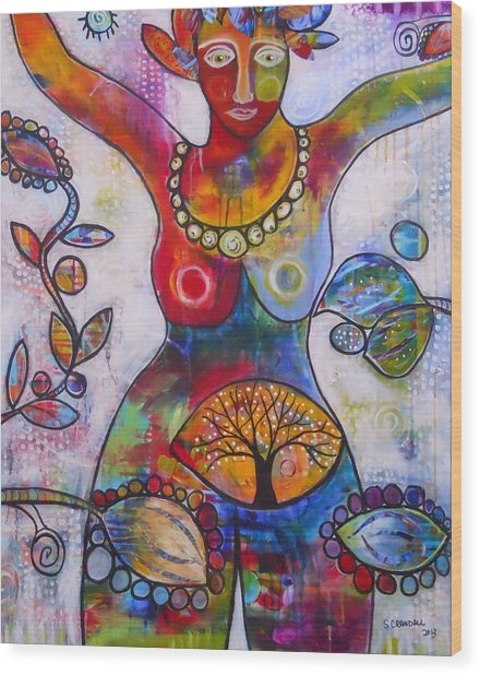 Goddess Of Truth Wood Print by Shannon Crandall