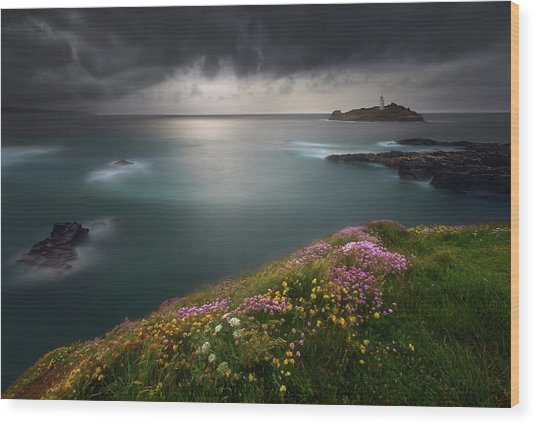Godrevy Point... Wood Print