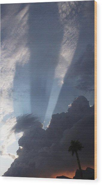 God's Hand Wood Print