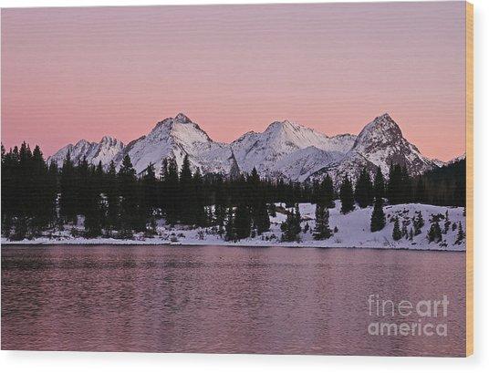 God's Light Painting At Molas Lake Wood Print