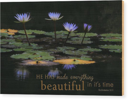 Peace Of Mind With Message Wood Print