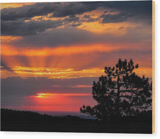 God's Spotlight Over Keystone Wood Print