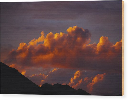 God's Sunset Cloud Wood Print