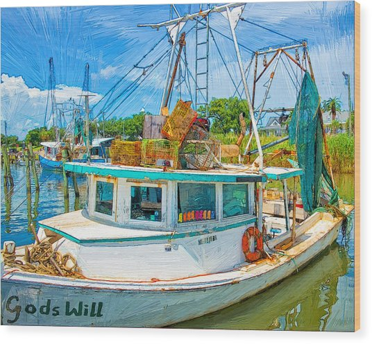God's Will Wood Print