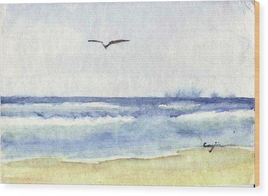 Goelan Atlantique Wood Print