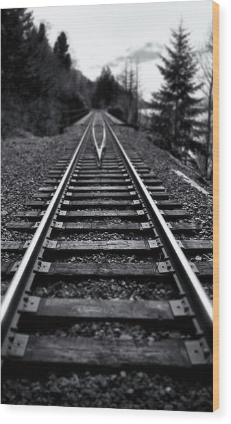 Going The Distance Wood Print