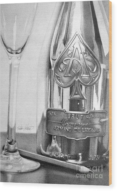 Gold Bottle Wood Print by Anthony Johnson