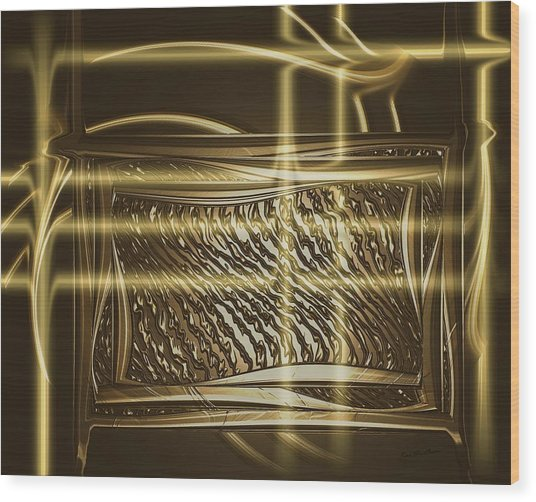 Gold Chrome Abstract Wood Print
