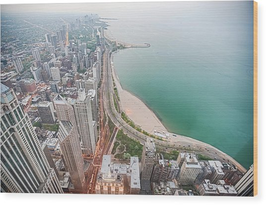 Gold Coast Of Chicago Wood Print by By Ken Ilio