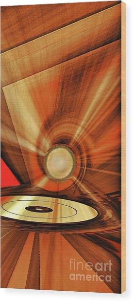 Wood Print featuring the photograph Gold Disk by Eleni Mac Synodinos