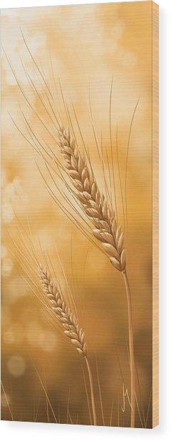 Gold Grain Wood Print