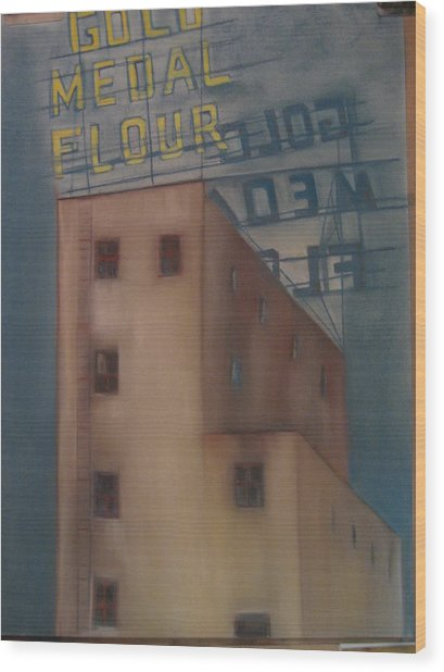Gold Medal Flour Wood Print