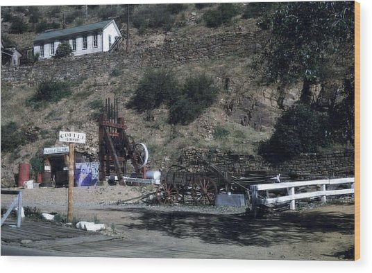 Gold Mine Wood Print