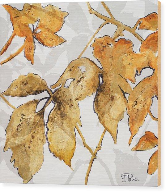 Gold Shadows II Wood Print