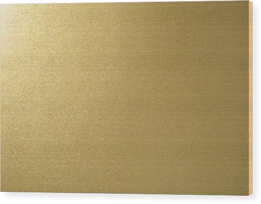 Gold Texture Background Wood Print by Katsumi Murouchi