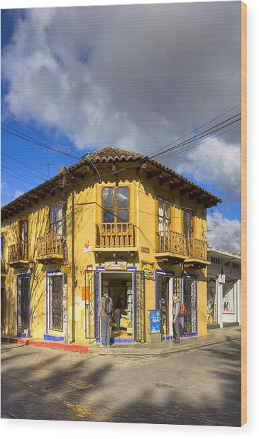 Golden Afternoon In San Cristobal De Las Casas Wood Print by Mark Tisdale