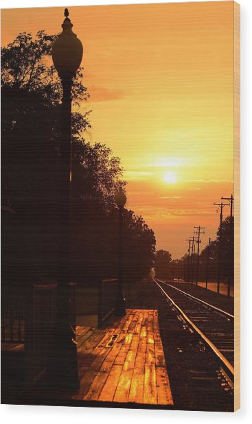 Golden Age Of Rails Wood Print