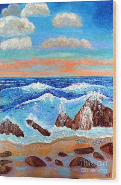Golden Beach 2 Wood Print